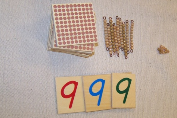 perlovy material - ukladanie cisel na kartickach